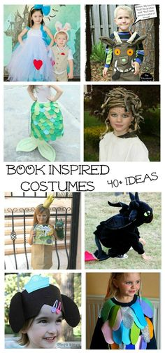 Book character themed DIY Halloween costumes for kids. Awesome ideas for unique costumes and dress up