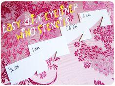 Afternoon Wanderer: Easy DIY Eyeliner Wing Stencils