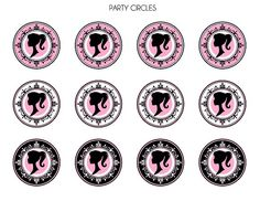 barbiesilhouettepartycircles