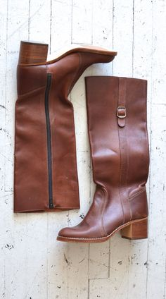 1970s leather campus boots | Larimer boots