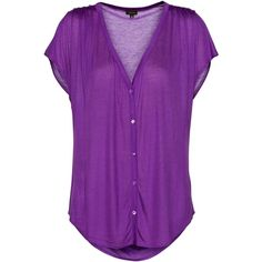 T.Babaton Mel Top ($55) ❤ liked on Polyvore featuring tops, blouses, shirts, t-shirts, women, shirts & tops, sheer blouse, shirts & blouses, purple sheer top and transparent blouse