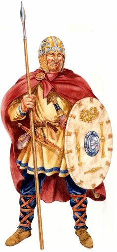 Saxon warrior by David Hobbs