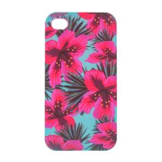 <P>This silicone protective phone case features a pink floral tropical print on a blue background. </P><UL><LI>Silicone protective case <LI>Compatible with iPhone 6 & iPhone 6S </LI></UL>