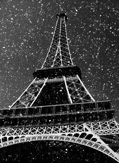 snowing in paris
