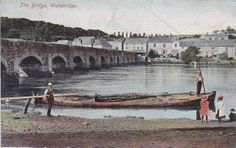 THE WADE BRIDGE (1904) | Wadebridge, Cornwall: Postcard with Wadebridge postmark. 'Wadebridge is a civil parish and town in north Cornwall. The town straddles the River Camel 5 miles (8.0km) upstream from Padstow. Originally known as Wade, it was a dangerous fording point across the river until a bridge was built here in the 15th century, after which the name changed to its present form.'     ✫ღ⊰n