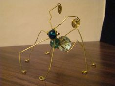 Totally Wired...Bugs, Wire, beads and glass are used to make these bugs and people., Odd shaped beads are harder to work with but make some of the most interesting bugs. , Gift Ideas Project