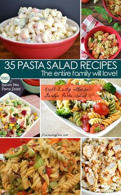 My whole family loves pasta salad - so great to find so many new recipes to try!