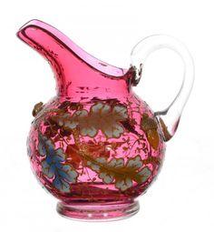 MOSER CRANBERRY ART GLASS MINIATURE