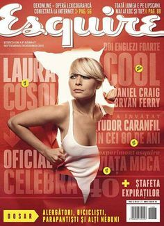 Laura Cosoi en couverture du magazine Esquire Romanian - Septembre 2014 / / #cover #lauracosoi #esquiremagazine #girls #sexy #revue #journal #revista #rivista #portada #hot #femme #nude #woman