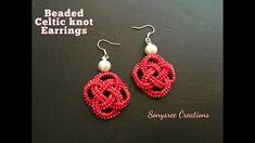 Celtic knot Beaded Earrings ~ seed bead tutorials