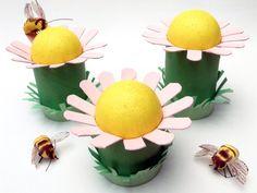 Tavaszi virágok papírgurigából | Kreatív világom Toilet Roll Craft, Halloween, Spring, Kids, Crafts, Young Children, Children, Manualidades, Kid