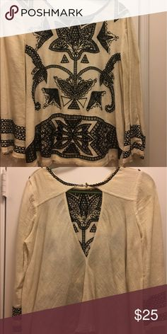 Blouse Free people blouse with cut out back Free People Tops Blouses