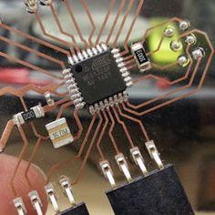 Creating a see-through Arduino with an ATmega328P. #Atmel #Arduino #PCB…