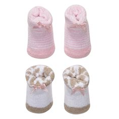 Chenille 2-Pack Booties   Baby Girl Accessories