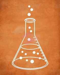 Science Art Printable with Erlenmeyer Flask by PrintsAndPrintables