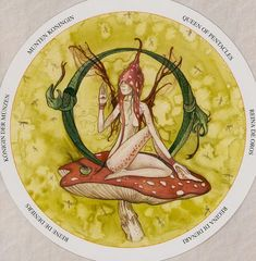 Queen of Pentacles - Circle of Life Tarot by Maria Distefano