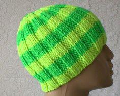 Neon yellow green beanie hat wool hat striped hat mens womens knit hat wool  toque green yellow beanie hat mens womens beanie hat yoga hiking 49be99c25b