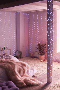 String lights in kids room extra long galaxy string lights kids rooms and apartments lighting stores . string lights in kids room ball lights home decor Cute Bedroom Ideas, Cute Room Decor, Teen Room Decor, Bedroom Decor, Bedroom Inspiration, Galaxy Bedroom Ideas, Living Room Unique Ideas, Diy Room Ideas, Sunroom Ideas