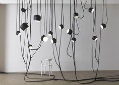 Les creations emblematiques des freres Bouroullec : Suspensions Lianes, 2010 (Galerie Kreo)