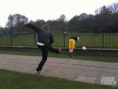 Soccer Ball Ricochet to Face