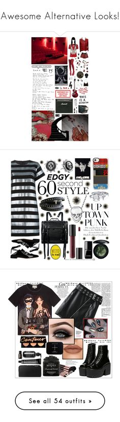 """Awesome Alternative Looks!"" by curekitty ❤ liked on Polyvore featuring Balmain, Ardency Inn, American Retro, Versace, Manic Panic NYC, Sian Bostwick Jewellery, Serge Lutens, Armani Exchange, ZoÃ« Chicco and Causse"
