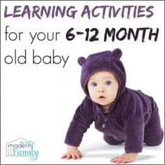learning activities 6-12 month old