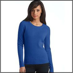 Lord & Taylor Cashmere Raglan-Sleeved Pullover Sweaterat The Bay