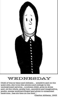 Wednesday by Chas Addams