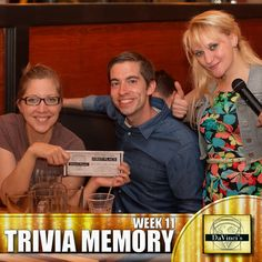 1st place winner!  Join us Wednesday's 7pm at DaVinci's Decatur. http://davincisdelivers.com/trivia-signup/