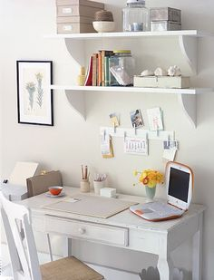 desk and organization for the house or apartment