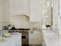 The best kitchen windows ever.  30 Successful Examples Of How To Add Subway Tiles In Your Kitchen