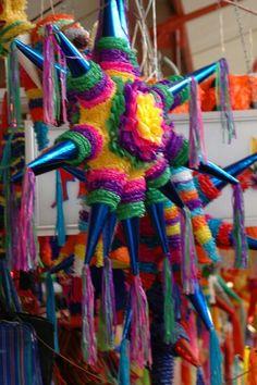 Capture the spirit of Mexico // Las piñatas son parte del espíritu mexicano Mexican Colors, New Mexican, Mexican Party, Mexican Folk Art, Mexican Style, Mexican Birthday, Mexico Christmas, Merry Christmas, Mexican Crafts
