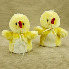 "Baby Chick 6"" Plush Hand Puppet Set of 2 Yellow Duckling Easter"