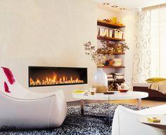 #cheminee neofocus foyer fermé encastré à gaz #design contemporain
