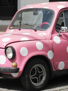 Cute pink mini cooper ☆ girly cars for female drivers! love pink cars ♥ it's the dream car for every girl . all things pink! Pink Love, Cute Pink, Pretty In Pink, Fiat 600, Color Rosa, Pink Color, Pink Mini Coopers, Vintage Pink, Vintage Cars