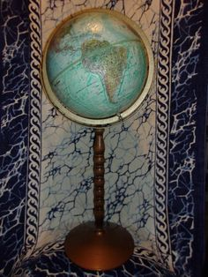 "Circa 1980s Replogle TREASURY 2-in-1 Globe ""World Ocean Series"" w/Raised Relief"