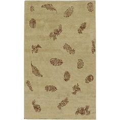 Sonora Plush Pile L 36 X W 24 Rectangle Wool Rug SON-1045