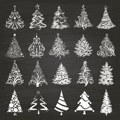 Chalkboard Christmas Tree Clipart. Xmas Trees. Chalkboard Background October 03, 2014 at 10:55PM