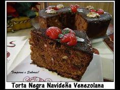 TORTA NEGRA NAVIDEÑA con sabor Venezolano receta completa - YouTube Venezuelan Food, Plum Cake, Pan Dulce, Sweets Cake, Chocolate Cupcakes, Holiday Recipes, Food And Drink, Baking, Eat