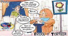 Frases, chistes, anécdotas, reflexiones, Amor y mucho más.: Chistes de Frijol y Tortilla. El Pintor, Nuestro Diario Guatemala.