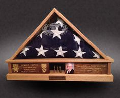 Greg Seitz Woodworking offers Custom Wood Shadow Boxes, Flag Boxes, Military Display Cases, and More. Custom Shadow Box, Wood Shadow Box, Diy Projects To Try, Wood Projects, Woodworking Projects, Flag Display Case, Display Boxes, Military Shadow Box, Military Memorabilia