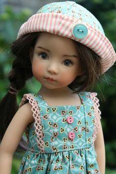 Dianna Effner Little Darling doll. Pretty Dolls, Cute Dolls, Beautiful Dolls, Dollhouse Dolls, Miniature Dolls, Victorian Dollhouse, Modern Dollhouse, Miniature Houses, Girl Doll Clothes