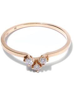 #jewelry Anna Sheffield Bea Arrow Band Rose Gold White Diamonds Size 6 Ring NEW please retweet