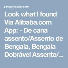 Look what I found Via Alibaba.com App: - De cana assento/Assento de Bengala, Bengala Dobrável Assento/fezes