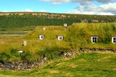 List guide to turf houses in Iceland (Þverá turf house in North-Iceland)