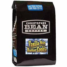 Christopher Bean Coffee Flavored Whole Bean Coffee, Vanilla Nut Butter Cookie, 12 Ounce * A special product just for you to view. See it now! : Fresh Groceries