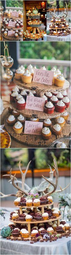 rustic wedding cupcake ideas #weddings #cakes #fall #cupcakes