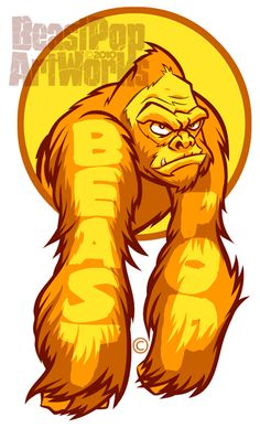 YELLOW GORILLA ARMS sticker by pop-monkey on deviantART