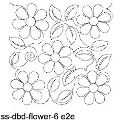Flowers Free Machine Quilting Pattern