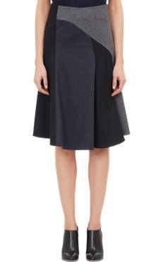 Colorblock Flounce Skirt